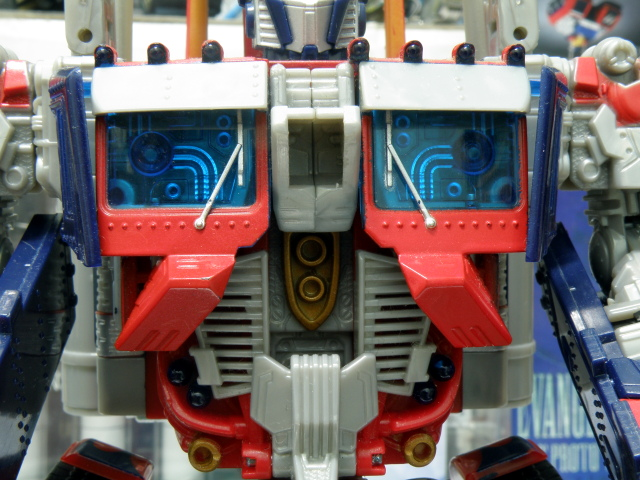 Optimus Prime robot mode chest detailing