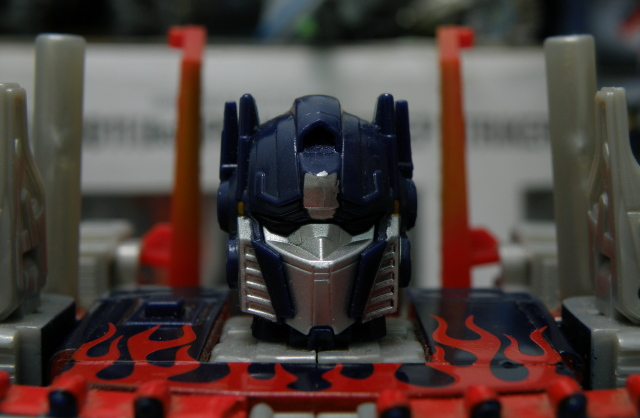 Optimus Prime head close up