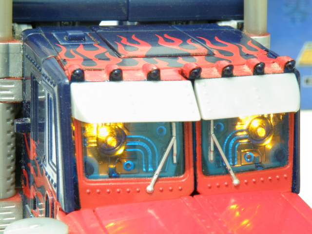 Optimus Prime truck electronic activated