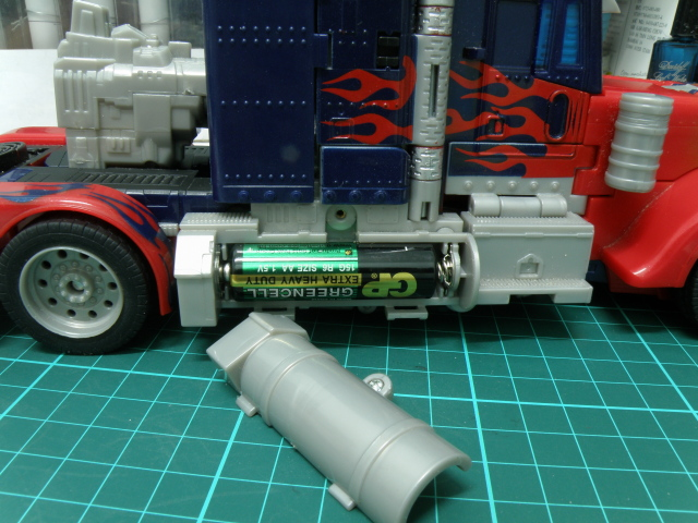 Optimus Prime truck, batteries