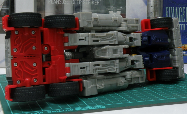 Optimus Prime truck mode, under side exposed