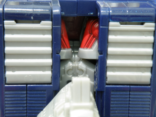 Optimus Prime truck mode, robot shoulder exposed