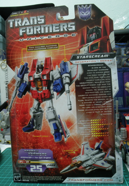 StarScream package back