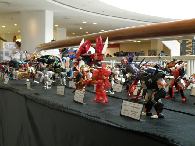 Beast Wars toyline on display.