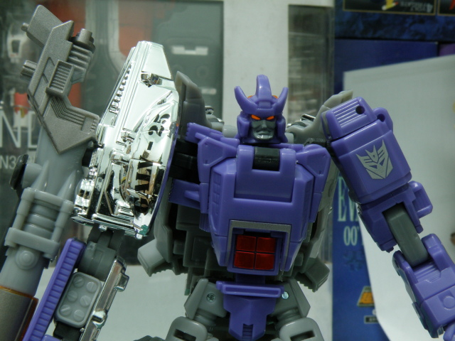Galvatron robot mode close up.