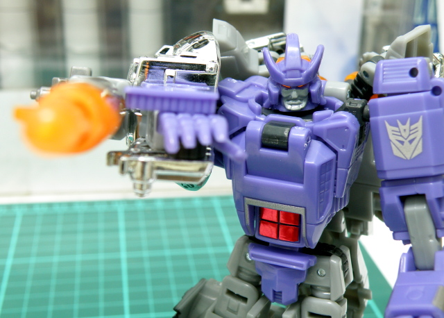 Galvatron Robot mode aiming cannon.