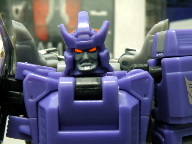 Galvatron head close up.