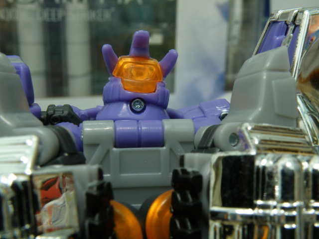 Galvatron head detailing at the back.