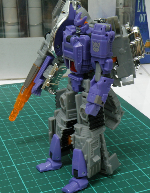 Galvatron robot mode left side view.