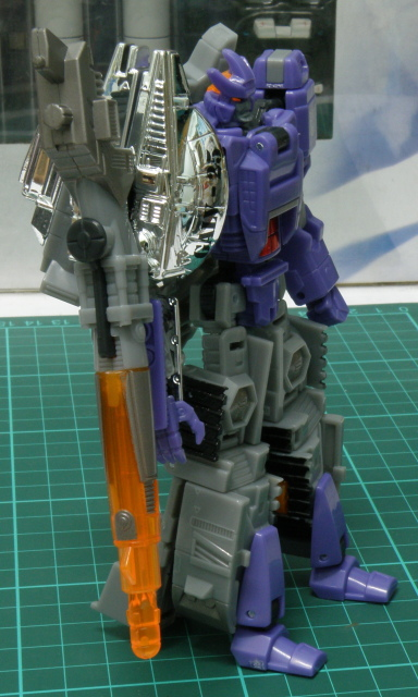 Galvatron very large side arm.