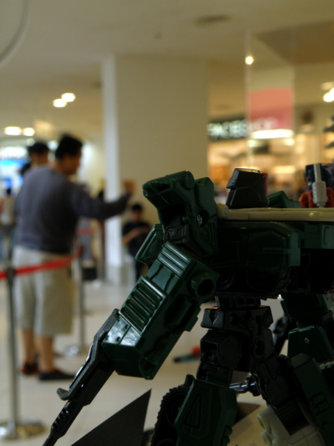 Megatron looking back at the visitors.