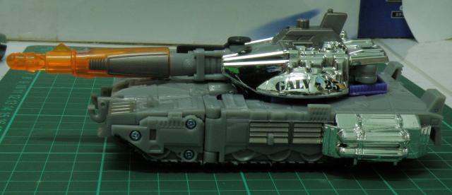 Galvatron tank mode left side.