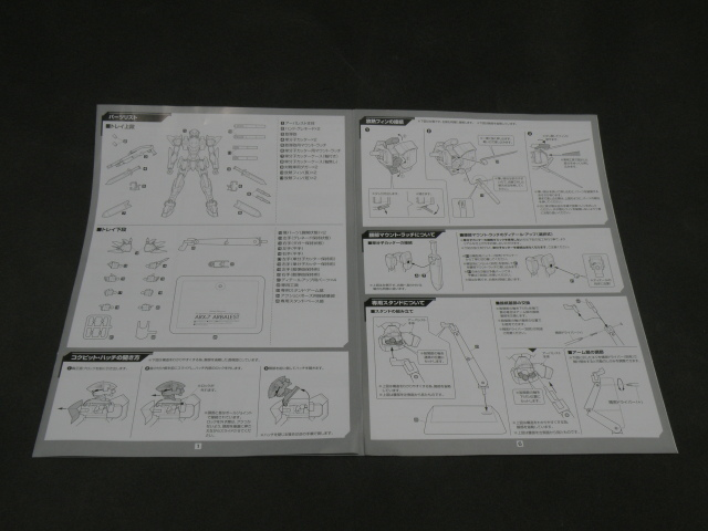 Alter ARX-7 manual side 1.