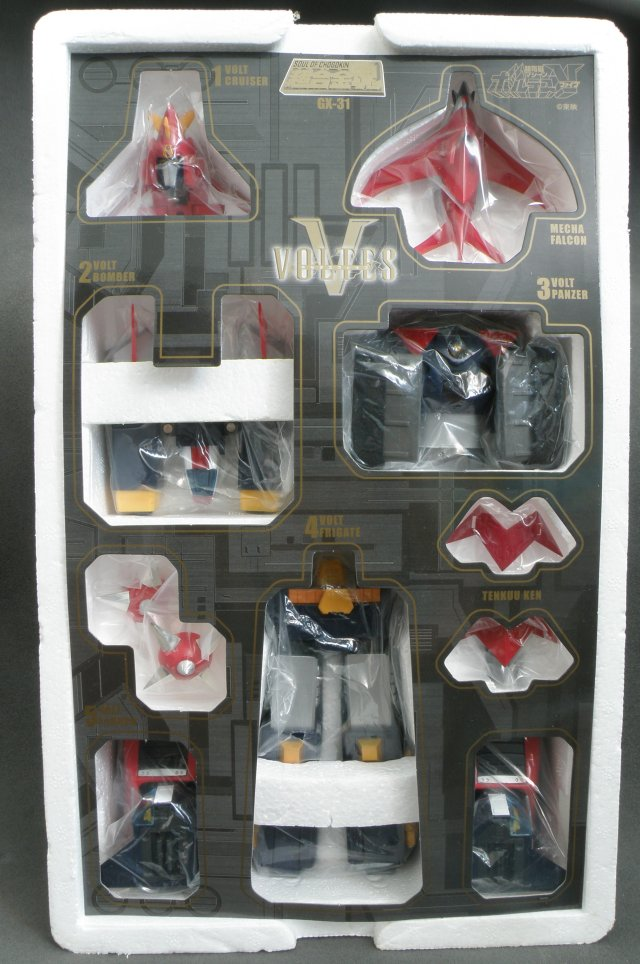 SOC Voltes V packed in polyester foam.