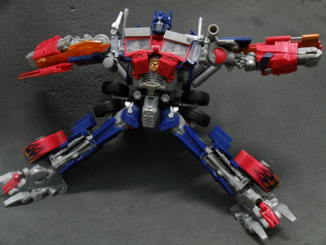 Optimus Prime robot mode articulation limits.
