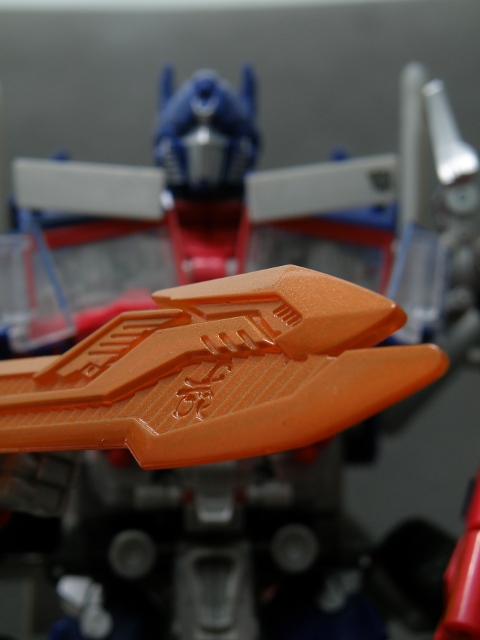 Optimus Prime Energon Sword Details CloseUp.