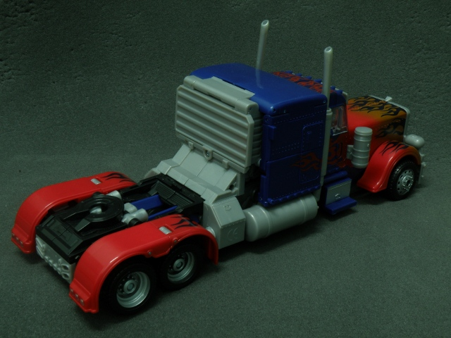 Optimus Prime SemiTruck Back view.