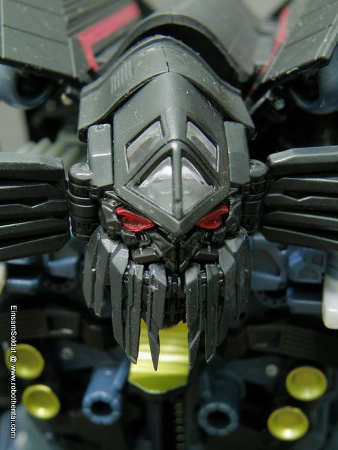 JetFire robot head close up shot.