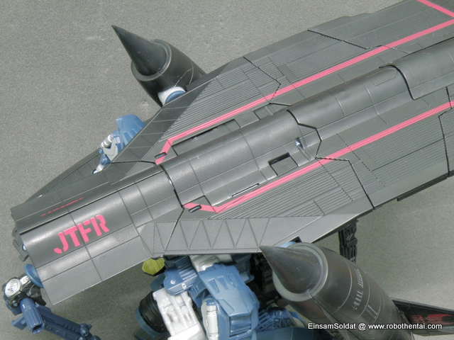 Step 3 - Have all the major pieces of SR-71 shell aligned and combine proper.
