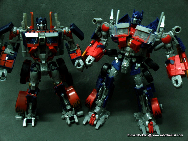 Optimus Prime Robot Comparison.