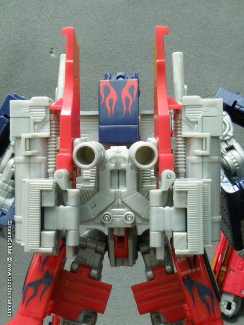 TFTM Optimus Prime Robot Back Details.