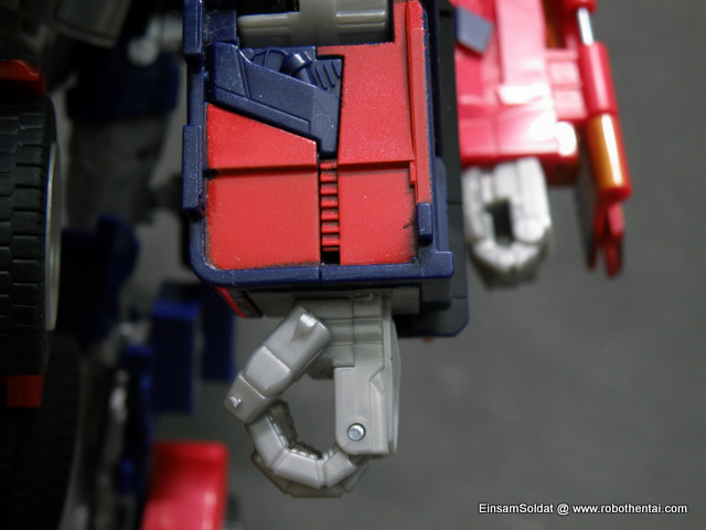 Optimus Prime Robot Compare Hand.