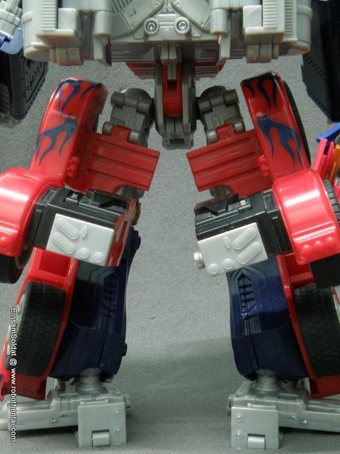TFTM Optimus Prime Robot Leg Details Back.