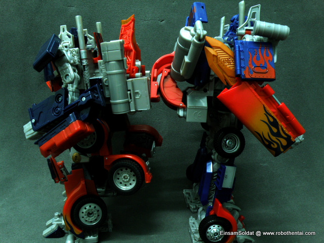 Optimus Prime Robot Compare back to back.
