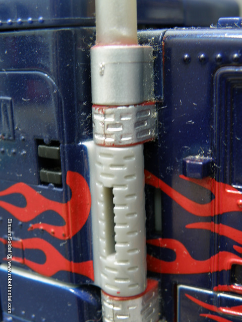 TFTM Optimus Prime SemiTruck Smoke Stacks Side.