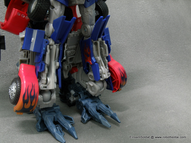 Front view of the alternate leg configuration of Powered-Up Prime.