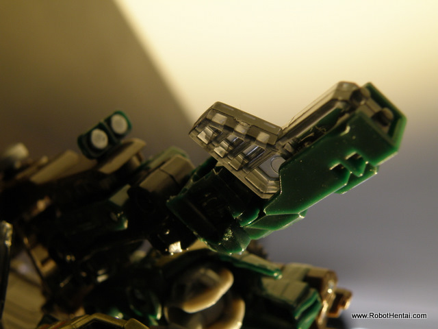 Details is not left out of Brawn's blaster.