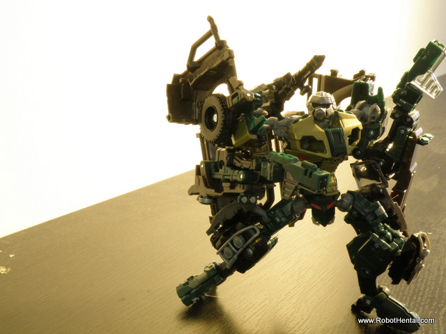 ROTF Brawn fully armed in Robot mode.