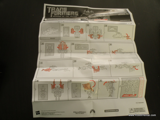ROTF Brawn Transformation Instructions are definately not in Technicolor.