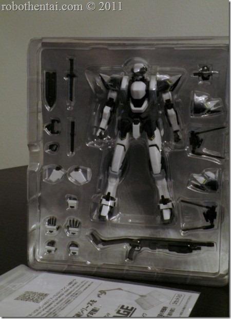Robot Damashii Arbalest plastic bubble tray.