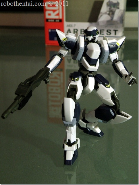 ARX7 Robot Damashii sling combat shotgun to action.